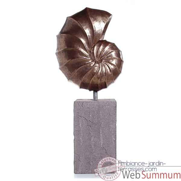 Video Sculpture Nautilus Giant Garden Sculpture, aluminium -bs3318alu -lava