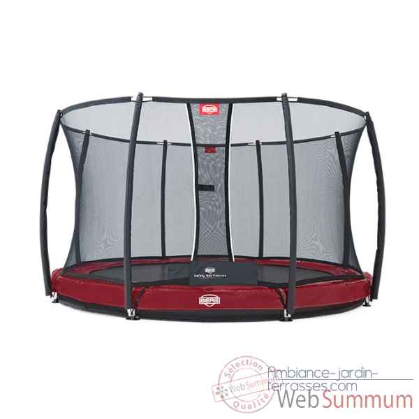 Trampoline Berg elite inground red 380 + safety net t-series 380 Berg Toys -37.12.82.00
