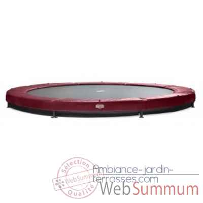 Berg trampoline elite+ 380 inground rouge -37.12.00.13