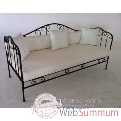 canap lit acier zingu chalet jardin dans mobilier alu. Black Bedroom Furniture Sets. Home Design Ideas