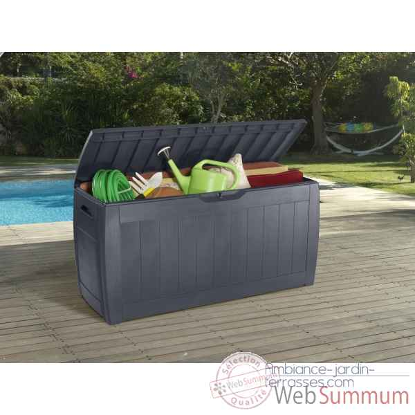 Coffre hollywood anthracite Chalet Jardin