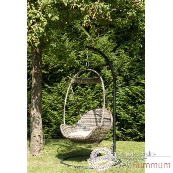 Fauteuil structure aluminium et r sine tress e chalet for Chalet exterieur jardin