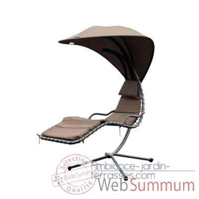 lit suspendu chalet jardin dans mobilier alu verre sur ambiance jardin terrasses. Black Bedroom Furniture Sets. Home Design Ideas