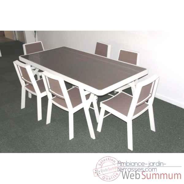 mobilier exterieur verre table xxh chalet jardin  p