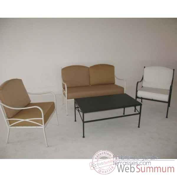 table basse acier zingu chalet jardin dans mobilier fer de mobilier exterieur. Black Bedroom Furniture Sets. Home Design Ideas