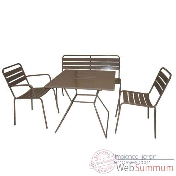 Table carree taupe Chalet Jardin -35-902374