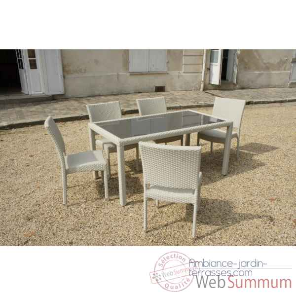 Table 6 couverts 160 x90 cm Chalet Jardin -35-900974