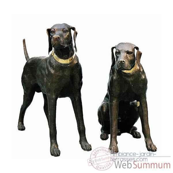 loup debout de thermobrass dans chien de animaux bronze sur ambiance jardin terrasses. Black Bedroom Furniture Sets. Home Design Ideas
