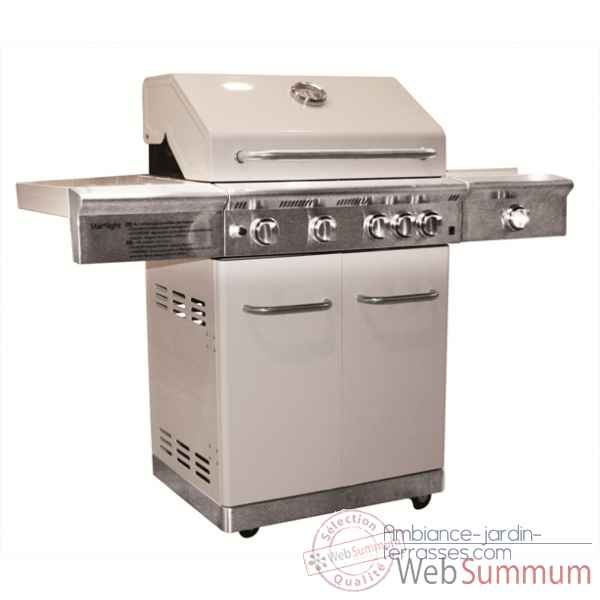Barbecue gaz americain starlight blanc Cookingarden -AM009B