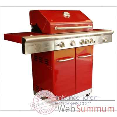 Barbecue gaz americain starlight rouge Cookingarden -AM009R