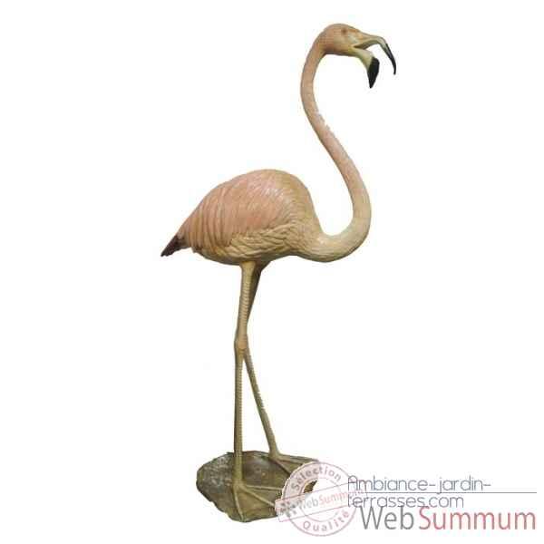 Oiseaux dans animaux bronze sur ambiance jardin terrasses - Flamant rose deco jardin ...