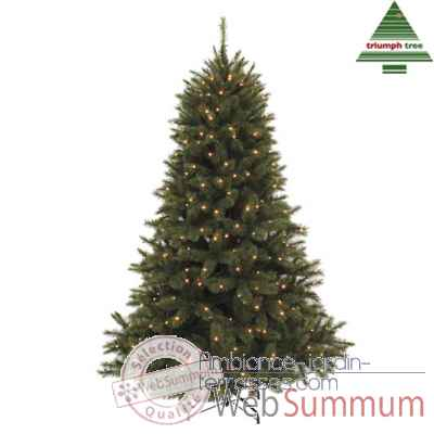 Sapin de noel led forest fr.pineh230d157 vert f. 400l tips 1536 ww -NF -389818