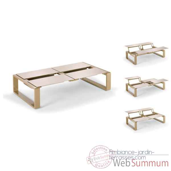 Kama table modulable quattro ego paris de meuble jardins for Table exterieur modulable