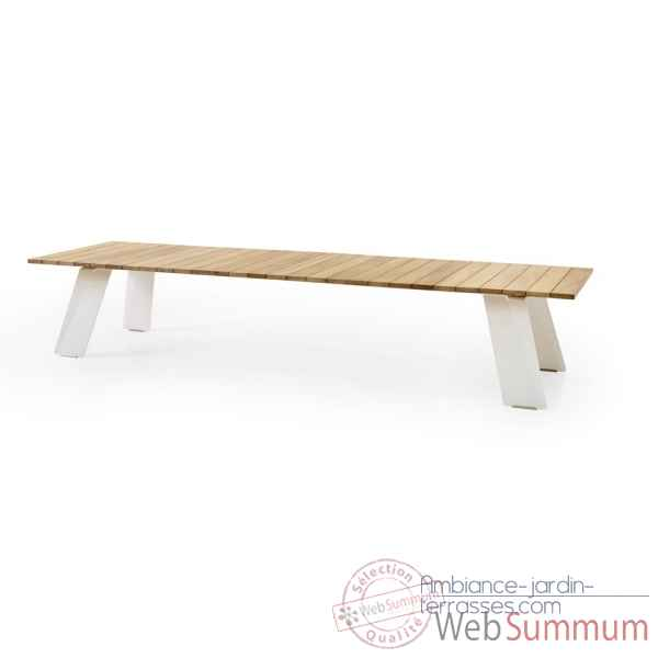Table pontsun 395, h.o.t.wood, frame galva Extremis -PST395 HOTWOOD