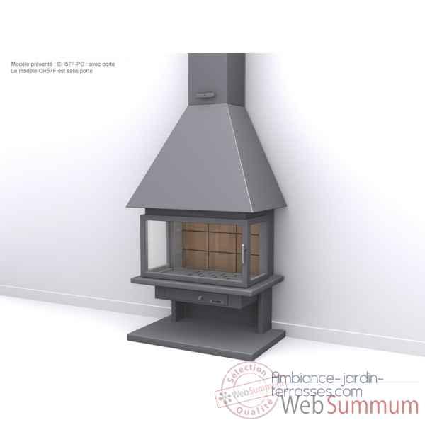 pour chemin e mod le ch57 f couleur anthracite 1 m tre de tuyau cache tuyau supl mentaire. Black Bedroom Furniture Sets. Home Design Ideas