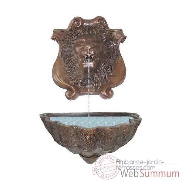 Fontaine Murale En Bronze Brz514 Dans Fontaine Jardin Bronze Jardin