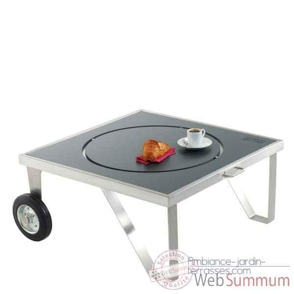 Brasero zenzo table brasero inox mobile petit mod le happinox de barbecue - Brasero de table professionnel ...