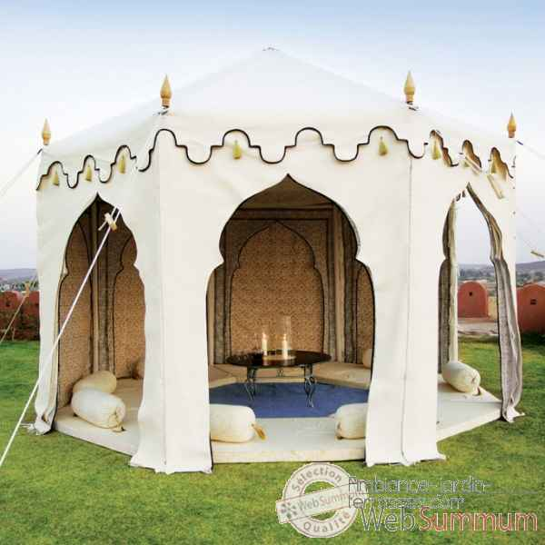 tente et parasol indien indian garden company sur ambiance. Black Bedroom Furniture Sets. Home Design Ideas