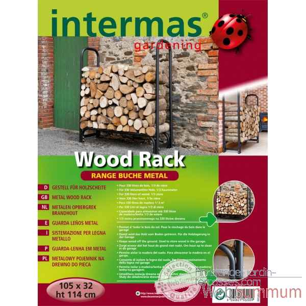 Wood rack (range buches metal) Intermas -150200