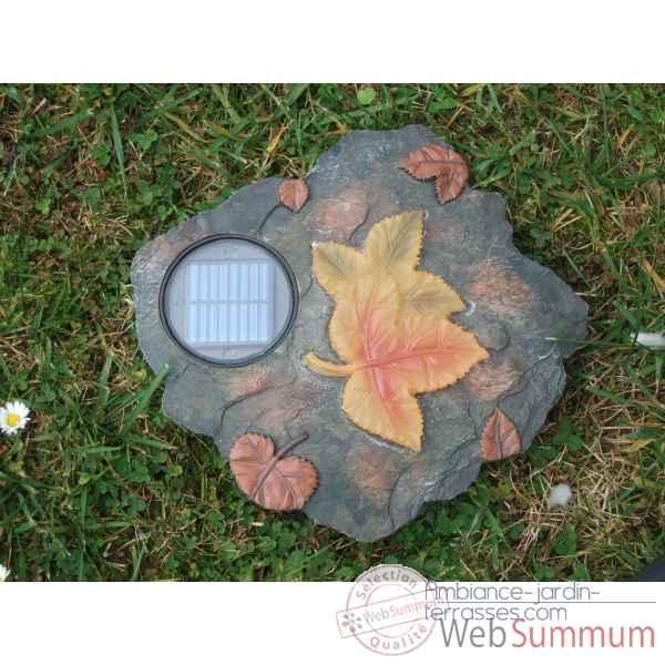 D coration de jardin lumineuse nergie solaire feuille for Decoration jardin solaire