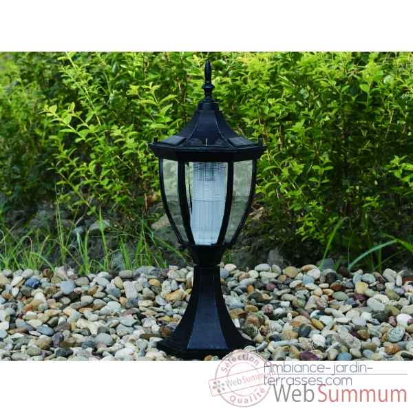 Lampe de forte clart nergie solaire moul fa on fer - Lampe solaire decorative exterieure ...