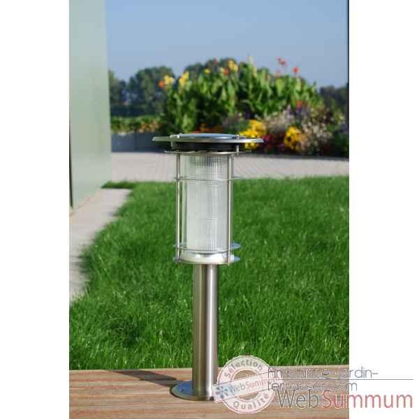 Lampe solaire daylight orange de bloom de lampes jardin et for Lampe solaire pour poteau de terrasse