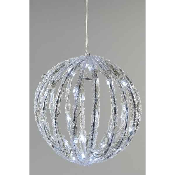 Boule acrylique led kaemingk dans d coration no l sur for Boule ceramique decoration jardin terrasse maison