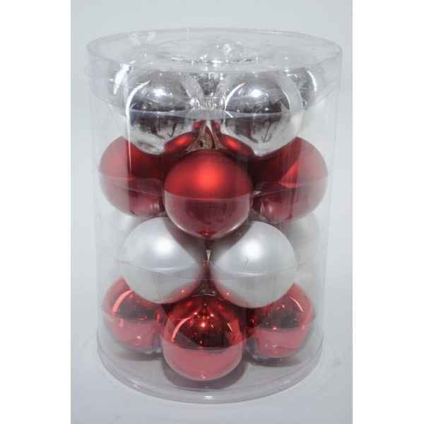 Boules mach mix rouge-blanc 60mm Kaemingk -142132