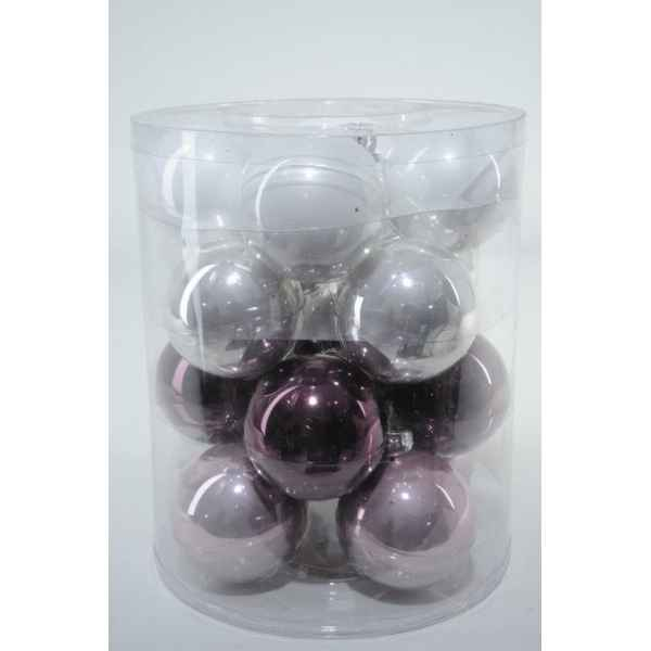 Boules machine mix violet 80mm Kaemingk -145026