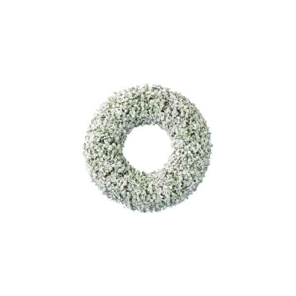 Couronne buis finition glace paillettes 40 cm Kaemingk -688107