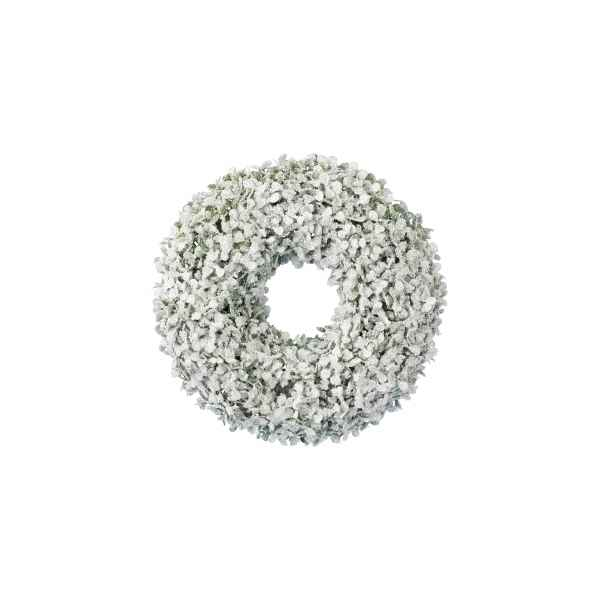 Couronne buis finition glace paillettes 30 cm Kaemingk -688108