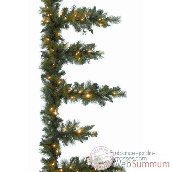 Guirlande icicle illumin kaemingk 678530 de sapin de for Sapin artificiel exterieur