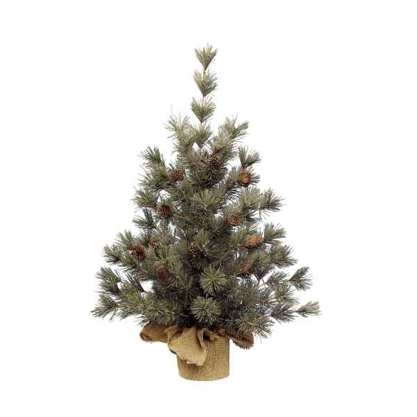 Mini sapin frosted pomme de pin 75 cm Everlands -NF -681186