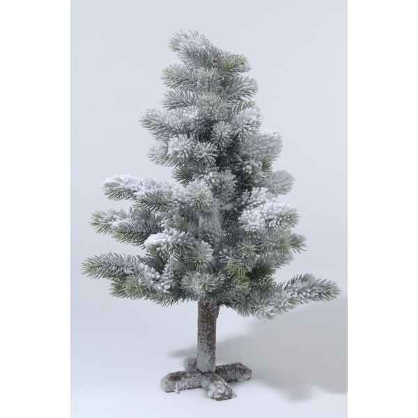 Mini sapin neige paillettes 60 cm Everlands -NF -689101
