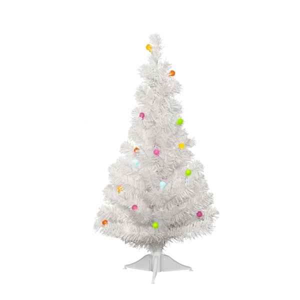 Mini sapin illumin sur pile 60 cm everlands nf 678851 - Mini sapin de noel artificiel ...