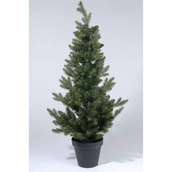 Sapin 2d real needle dans pot 120 cm Everlands -NF -680499