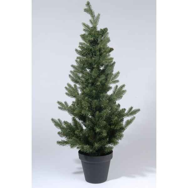 Sapin 2d real needle dans pot 150 cm Everlands -NF -680500