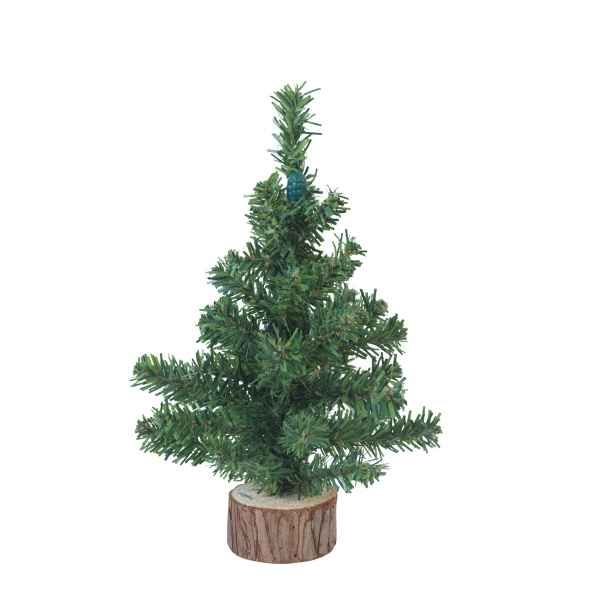 Sapin de table avec tronc en bois 20 cm Everlands -NF -683322