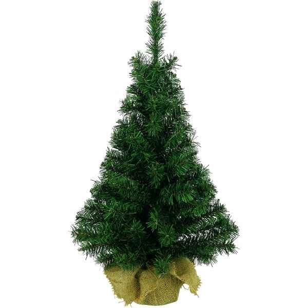 Sapin mini sac en jute 60 cm everlands nf 683356 de - Mini sapin de noel artificiel ...