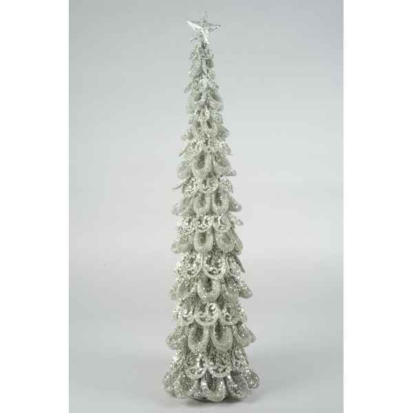 Sapin noel metal avec paillettes Everlands -NF -737431