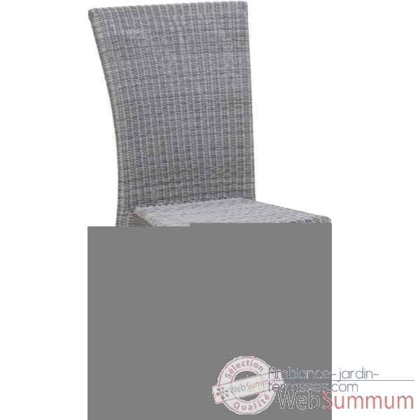 chaise isabelle r sine galet avec coussin tissus gris kok dans chaise bois naturel. Black Bedroom Furniture Sets. Home Design Ideas