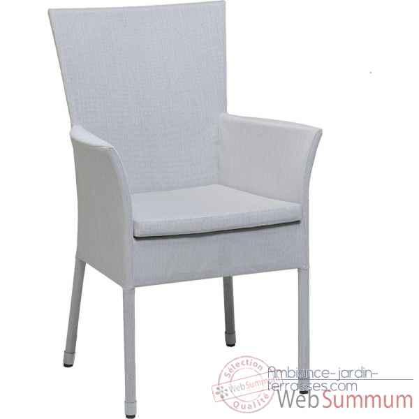 fauteuil bridge cap sud batyline perle avec coussin kok de meuble design bois naturel. Black Bedroom Furniture Sets. Home Design Ideas