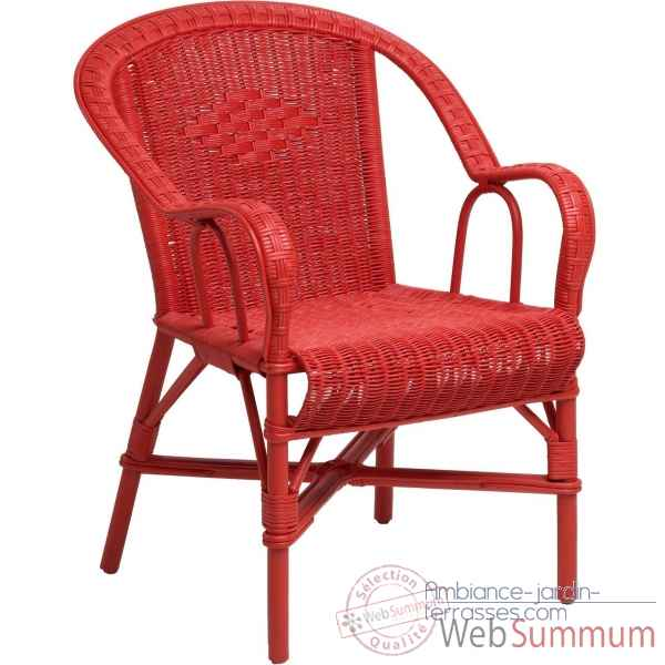 Fauteuil Grand Pere : rouge flashy KOK 978SR