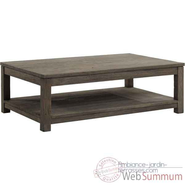 Table basse rectangulaire drift Teck Recycle gris brosse KOK M42G