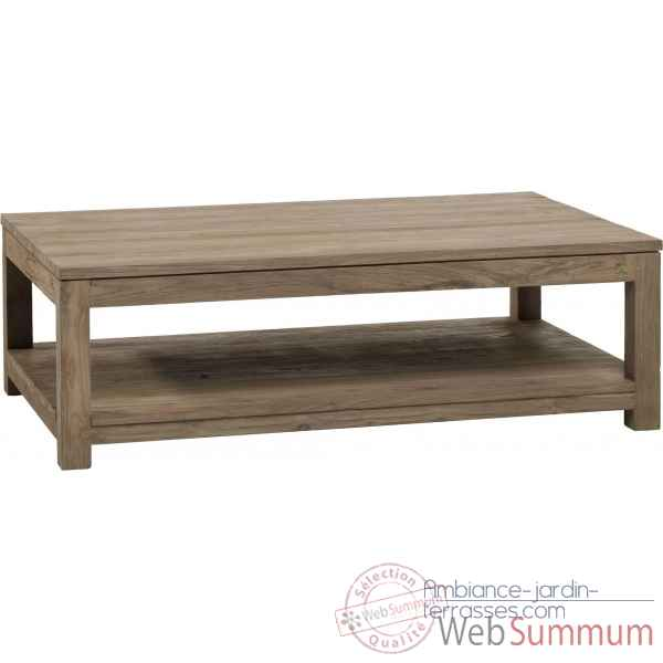 Table basse rectangulaire drift Teck Recycle naturel brosse KOK M42N
