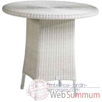 Table Cigale resine Creme sans verre KOK 597/4W