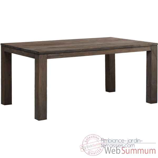 Drift Kok Brossé Table Recyclé Teck M33g Gris QBxWredECo