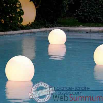 boule lumineuse acquaglobo 50 slide de slide de lampes jardin et terrasse. Black Bedroom Furniture Sets. Home Design Ideas