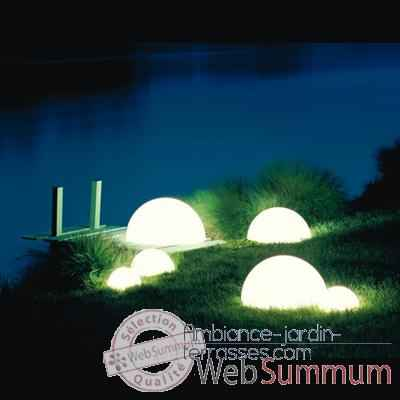 Lampe demi-lune Terracota socle a enfouir Moonlight -hmbgdlc750055