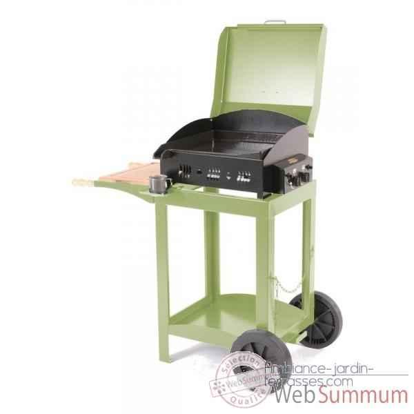 elaia 2 feux s chariot avec couvercle mousse le marquier bap3209c23 de planchas. Black Bedroom Furniture Sets. Home Design Ideas